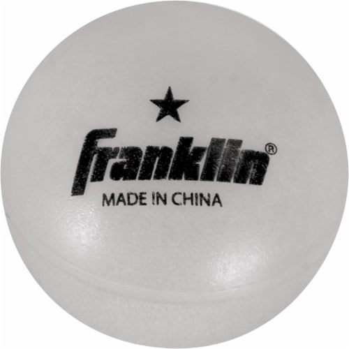 Franklin 40mm 1 Star Glow-in-the-Dark Table Tennis Balls Perspective: back