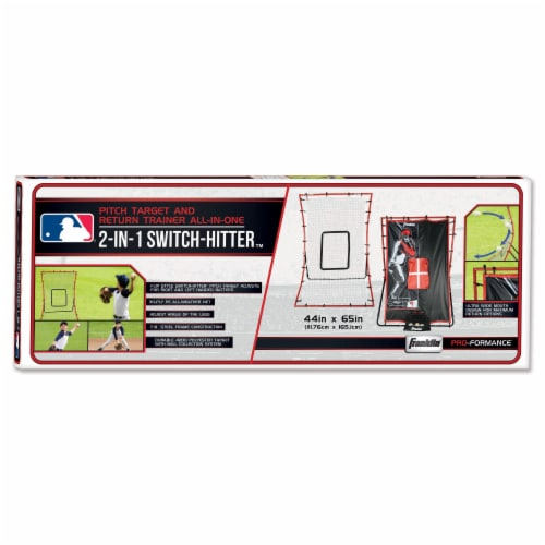 Franklin MLB 2 in 1 Switch Hitter Pitch Target and Return Trainer Perspective: back