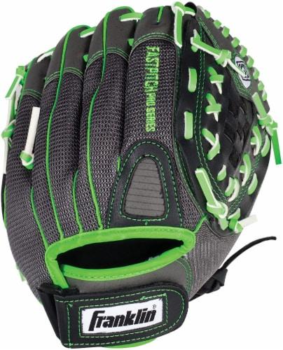 Franklin Fastpitch Pro Series Regular Softball Glove - Lime/Black Perspective: back