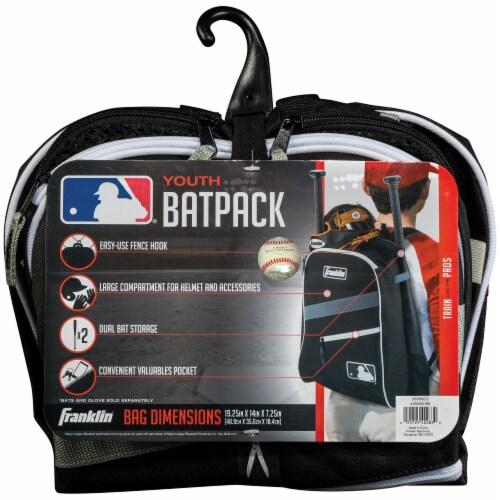 Franklin MLB Bat Pack - Black/Gray Perspective: back