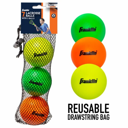 Franklin Youth Lacrosse Balls - 3 Pack Perspective: back