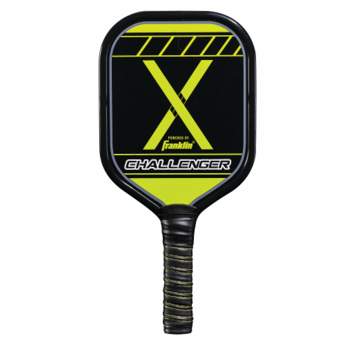 Franklin Pickleball Challenger Paddle - Black/Green Perspective: back