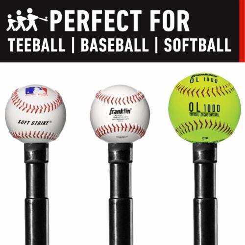 Franklin MLB® Heavy Duty Batting Tee - Black Perspective: back