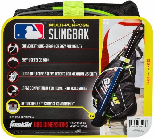 Franklin MLB Slingbak Bag - Black/Optic Yellow Perspective: back