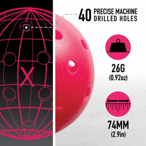 Franklin Pickleball Balls - Pink Perspective: back