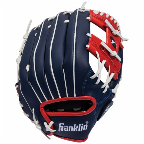 Franklin Field Master Series USA Regular Baseball Glove - Blue/Red Perspective: back