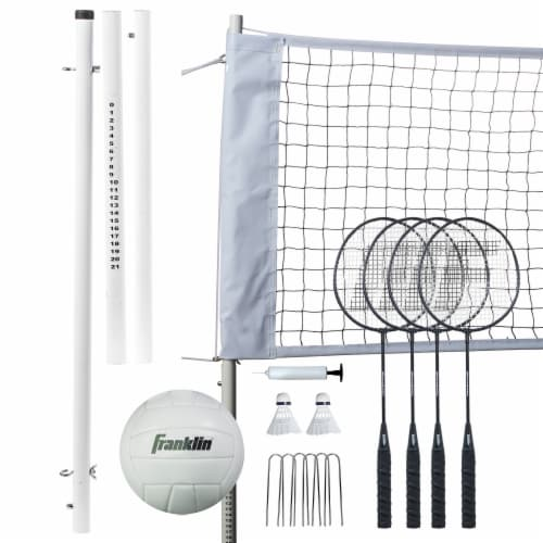 Franklin Professional Volleyball and Badminton Set Perspective: back