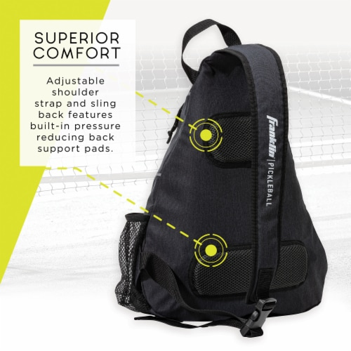 Franklin Pickleball Sling Bag - Charcoal Perspective: back