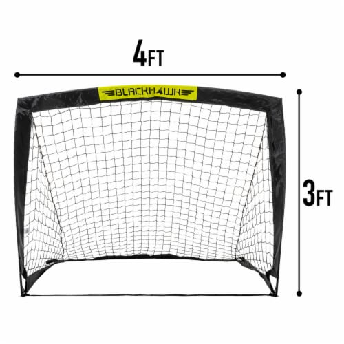 Franklin Blackhawk Soccer Goal - Black/Yellow Perspective: back