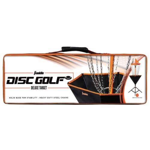 Franklin Metal Chain Disc Golf Target - Black/Orange Perspective: back