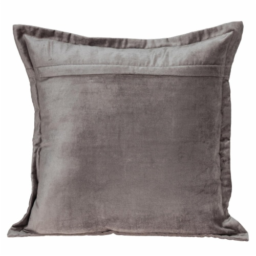 Parkland Collection Agneta Transitional Taupe Throw Pillow Perspective: back