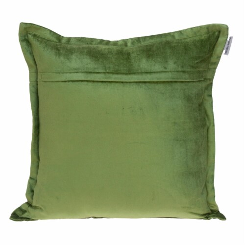 Parkland Collection Agneta Transitional Olive Throw Pillow Perspective: back