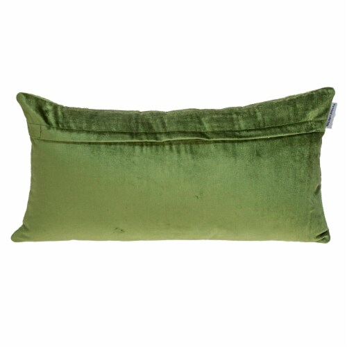 Parkland Collection Aleta Transitional Olive Throw Pillow Perspective: back