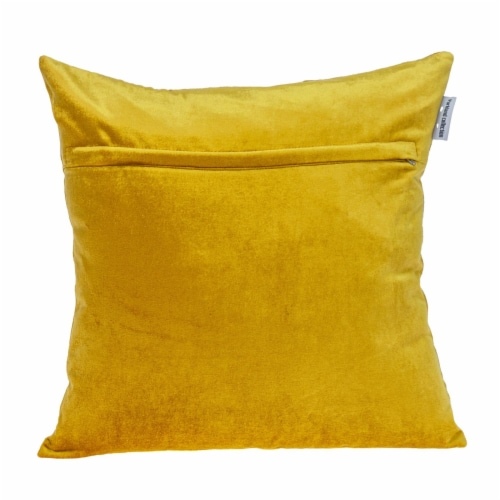 Parkland Collection Hazel Transitional Mustard Yellow Throw Pillow Perspective: back