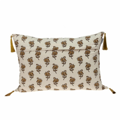 Parkland Collection Venus Transitional Beige Throw Pillow Perspective: back