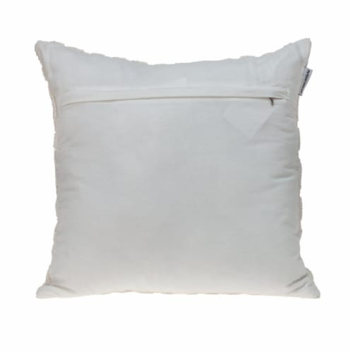 Parkland Collection Sorrel Transitional White Throw Pillow Perspective: back