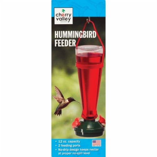 Audubon Briggs 12 Oz. Plastic Hummingbird Feeder 5545 Perspective: back