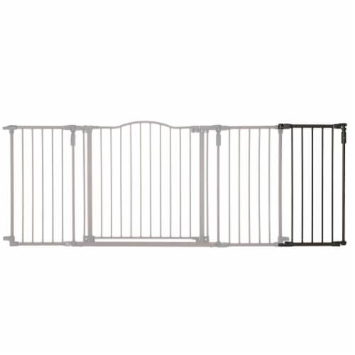 Toddleroo by North States 15 Inch Extension Piece for Deluxe Decor Gate, Bronze Perspective: back