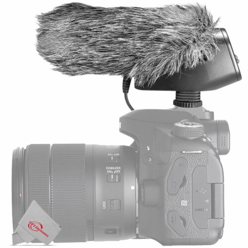 Vidpro Condenser Shotgun Microphone For Dslrs Camcorders And Video Recorders Perspective: back