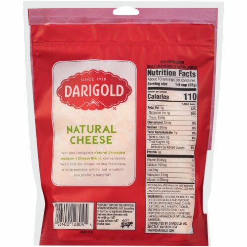 Darigold® Mexican 4 Cheese Blend Fine Shredded Cheese Perspective: back
