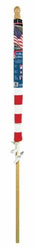 Annin Flagmakers American Flag Kit with Wood Pole Perspective: back