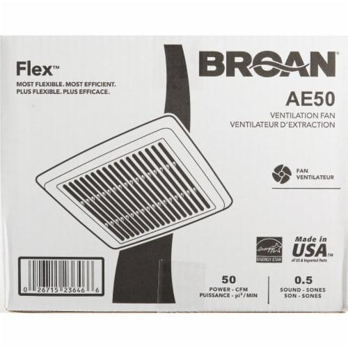 Broan Flex Series 50 CFM 0.5 Sones Bath Exhaust Fan AE50 Perspective: back