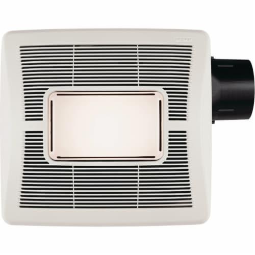 Broan Flex Series 50 CFM 1.5 Sones 120V Bath Exhaust Fan with Light A50L Perspective: back