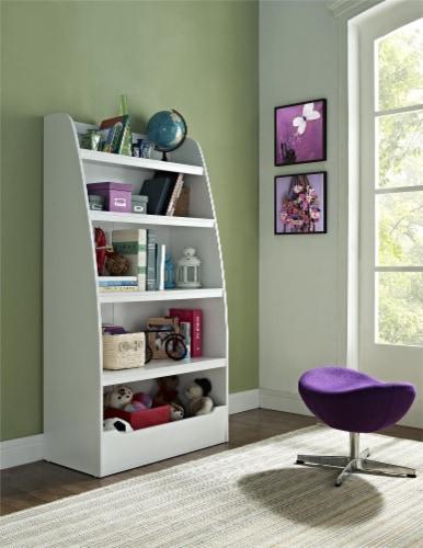 Annabelle Kids' 4 Shelf Bookcase, White Perspective: back