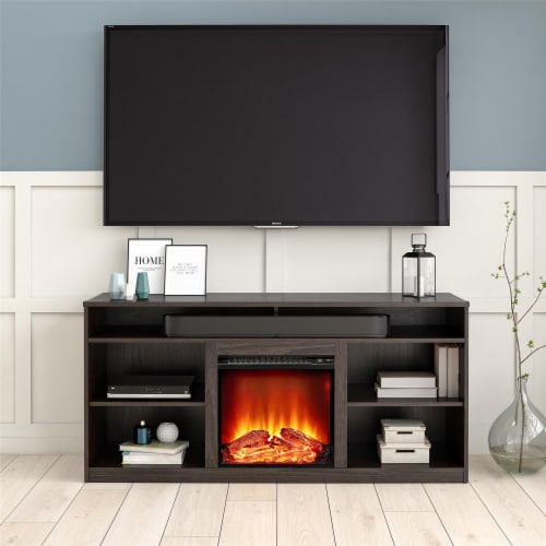 RealRooms Vesta Fireplace TV Stand for TVs up to 65 , Espresso Perspective: back