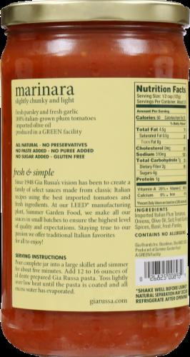 Gia Russa Marinara Pasta Sauce Perspective: back