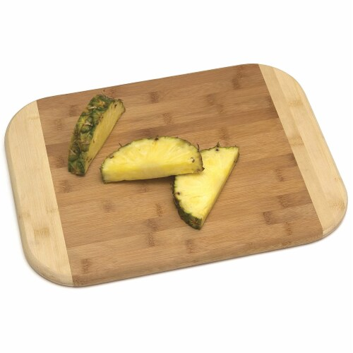 Lipper International Large Versatile Home 2 Toned Kitchen Carving Board, Bamboo Perspective: back