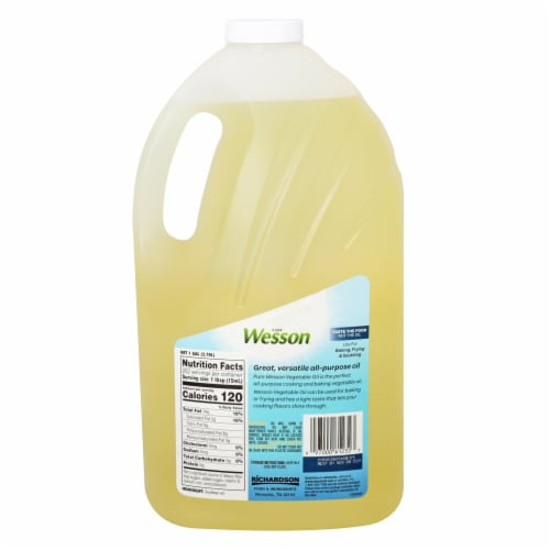 Wesson® Pure Vegetable Oil Perspective: back