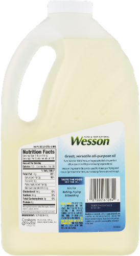 Wesson Vegetable Oil Perspective: back