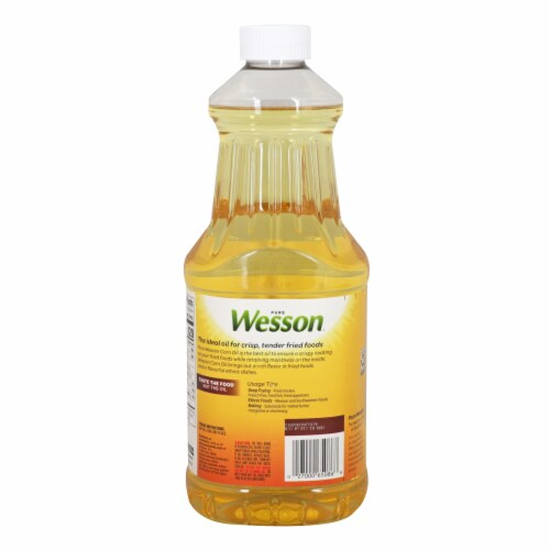 Wesson Pure Corn Oil Perspective: back