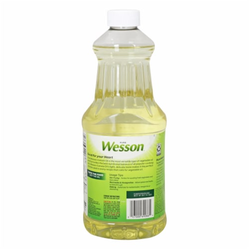 Wesson Pure Canola Oil Perspective: back