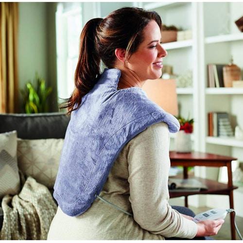 Sunbeam Pain Relief Massaging XL Renue Heat Therapy Neck & Shoulder, Lavender Perspective: back