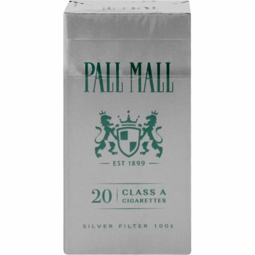 Pall Mall Classic Menthol Silver Filter 100s Cigarettes Perspective: back