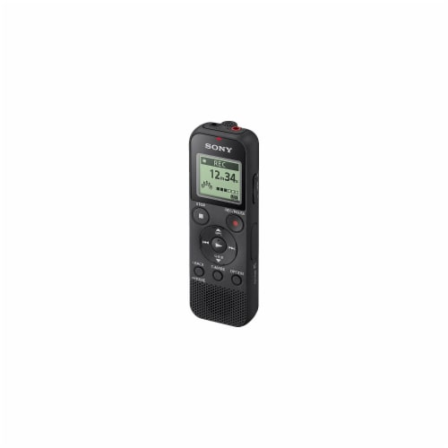 ICD-PX370 Digital Voice Recorder, 4 GB, Black 2706075 Perspective: back