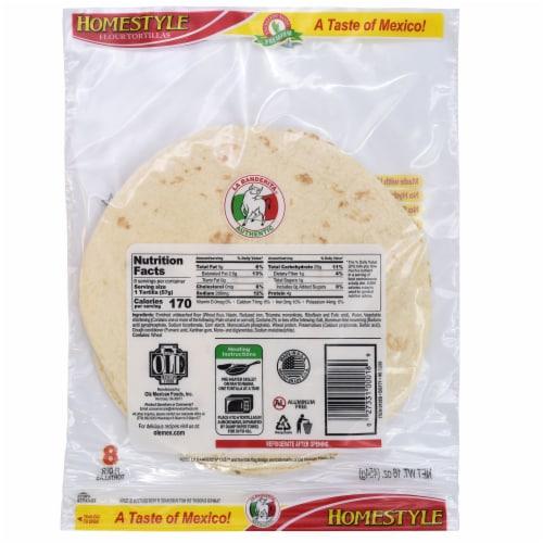 La Banderita Homestyle Flour Tortillas Perspective: back