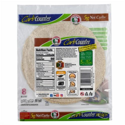La Banderita Carb Counter Whole Wheat Wraps Perspective: back