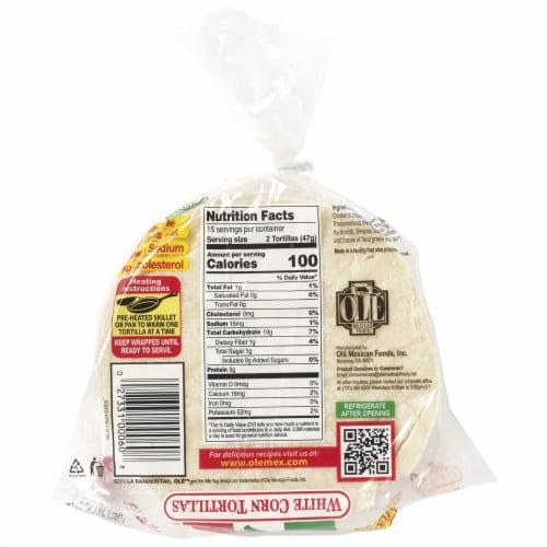 La Banderita White Corn Tortillas Perspective: back