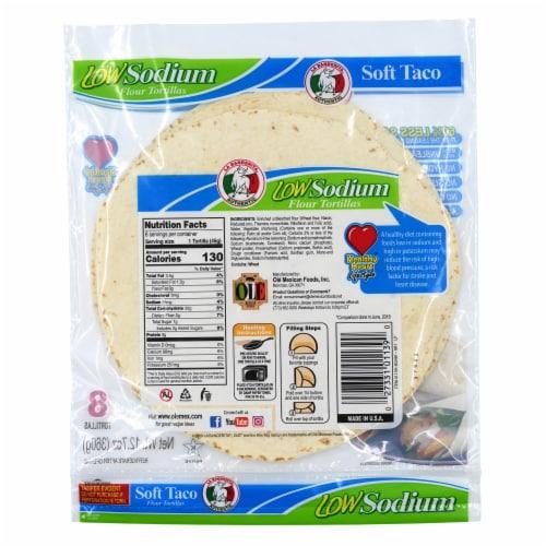 La Banderita Low Sodium Flour Tortillas Perspective: back