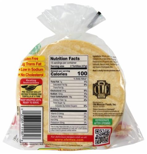 La Banderita Yellow Corn Tortillas Perspective: back