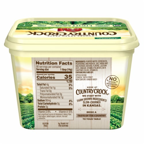 Country Crock Light Vegetable Oil Spread Perspective: back