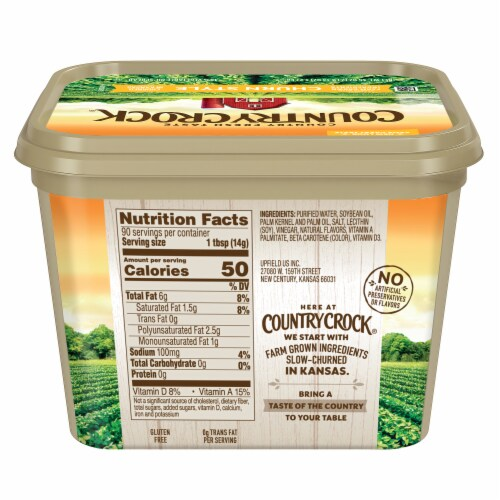 Country Crock Churn Style Vegetable Oil Spread Perspective: back