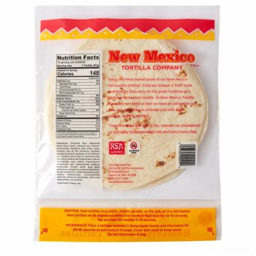 New Mexico Tortilla Company Homestyle Flour Tortillas Perspective: back