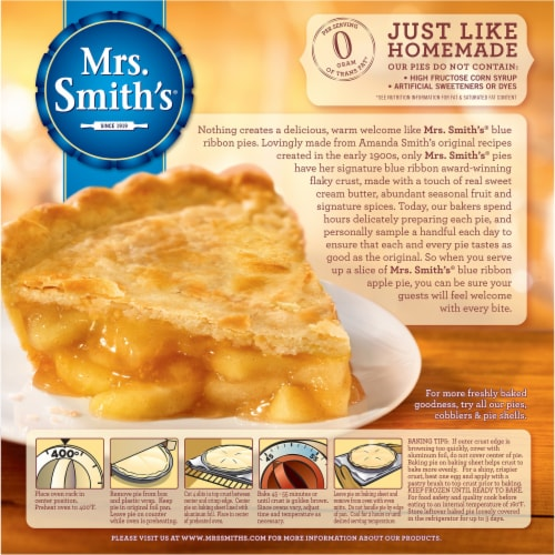 Mrs. Smith's Original Flaky Crust Apple Pie Perspective: back