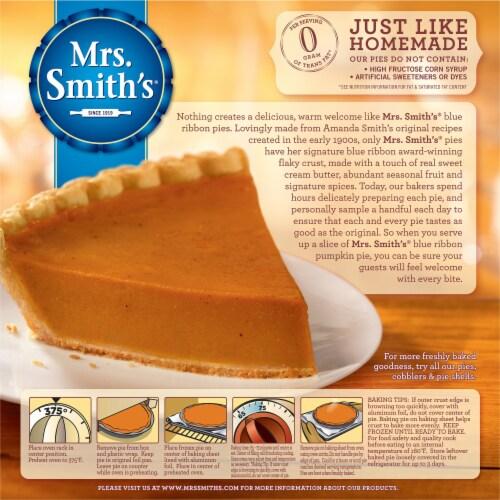 Mrs. Smith's Original Flaky Crust Pumpkin Pie Perspective: back