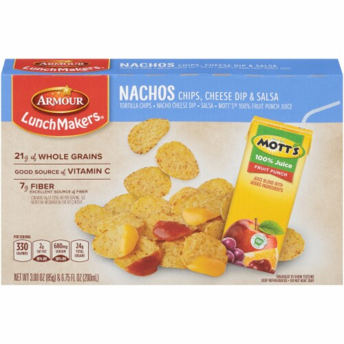 Armour® LunchMakers® Nacho Chips with Cheese Dip & Salsa Lunch Kit Perspective: back