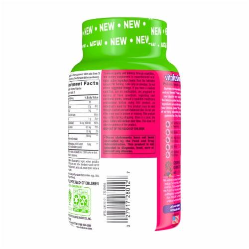 Vitafusion Natural Lemon and Berry Flavors Prebiotic Immune Support Gummies Perspective: back
